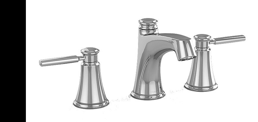 TOTO TL211DD Keane Brass Widespread Lavatory Faucet With Pop-up Drain
