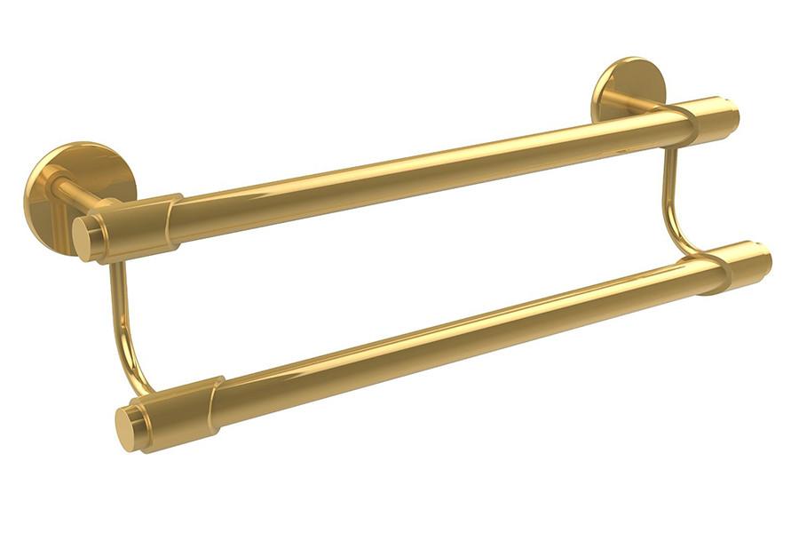 Allied Brass TR-72-24-PB 24 Inch Double Towel Bar in Polished Brass