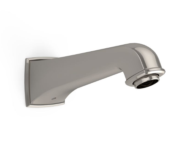 TOTO TS221E#PN Connelly Wall Mount Brass Bathroom Tub Spout In Polished Nickel