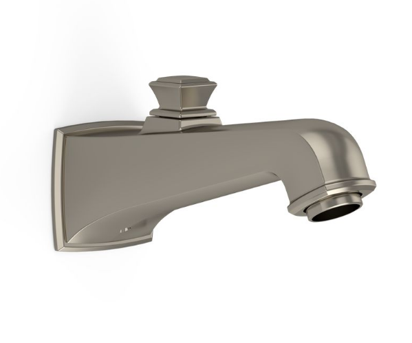 TOTO TS221EV#BN Brushed Nickel Connelly Wall Mounted Bathroom Tub Spout With Diverter