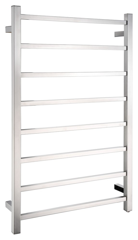 ANZZI TW-AZ026BN Bell 8 Bar Electric Towel Warmer In Brushed Nickel