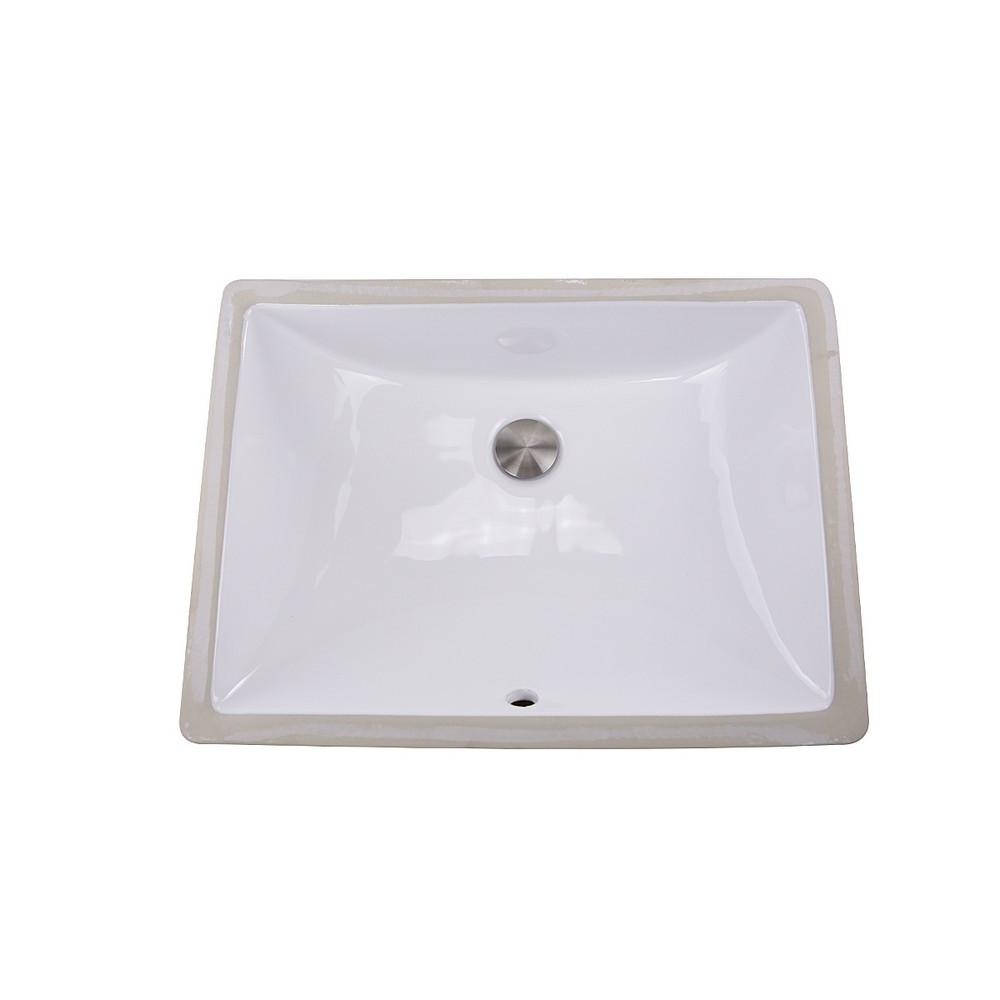 Nantucket Sinks UM-18x13-W 18 Inch Undermount Ceramic Sink In White