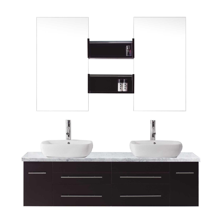 VIRTU UM-3051-WM-ES-001 Augustine 59 Inch Double Bathroom Vanity Set In Espresso