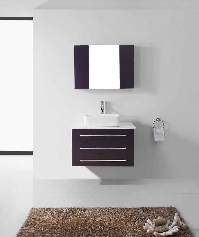 """Virtu UM-3057-S-ES-001 32"""" Ivy Espresso Single Sink Bathroom Vanity"""