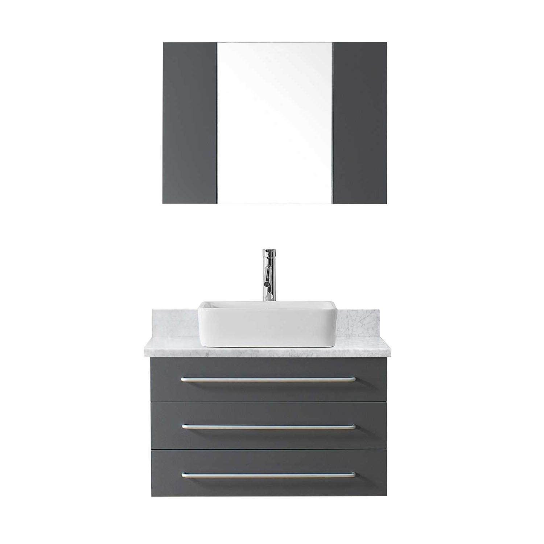 VIRTU UM-3057-WM-GR Ivy 32 Inch Single Bathroom Vanity Set In Grey