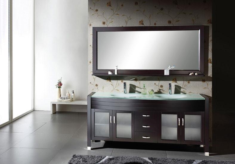 "Virtu USA UM-3073-ES 71"" Ava - Espresso - Double Sink Bathroom Vanity"