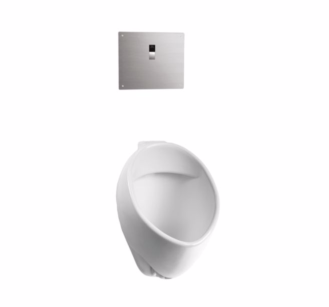 TOTO UT105UVG#01 Commercial 1/8 GPF Wall Mounted Urinal In Cotton