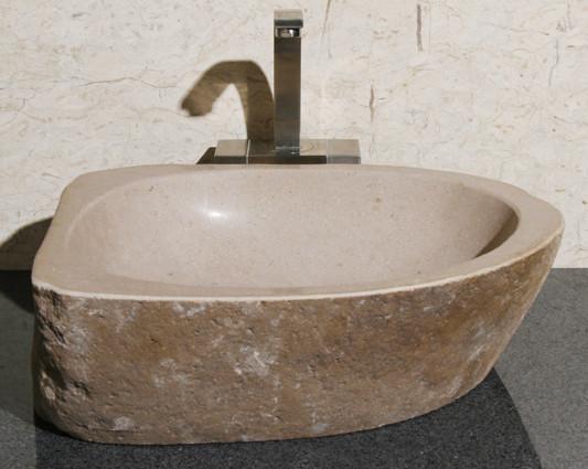 Allstone V-VNRAMS-#13 Amberstone Natural Boulder Granite Vessel Sink