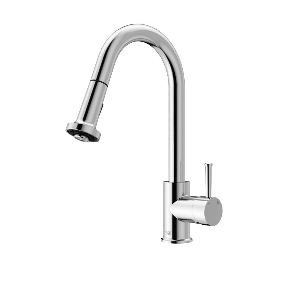 Vigo VG02002CH 18'' Chrome Pull-Down Kitchen Faucet