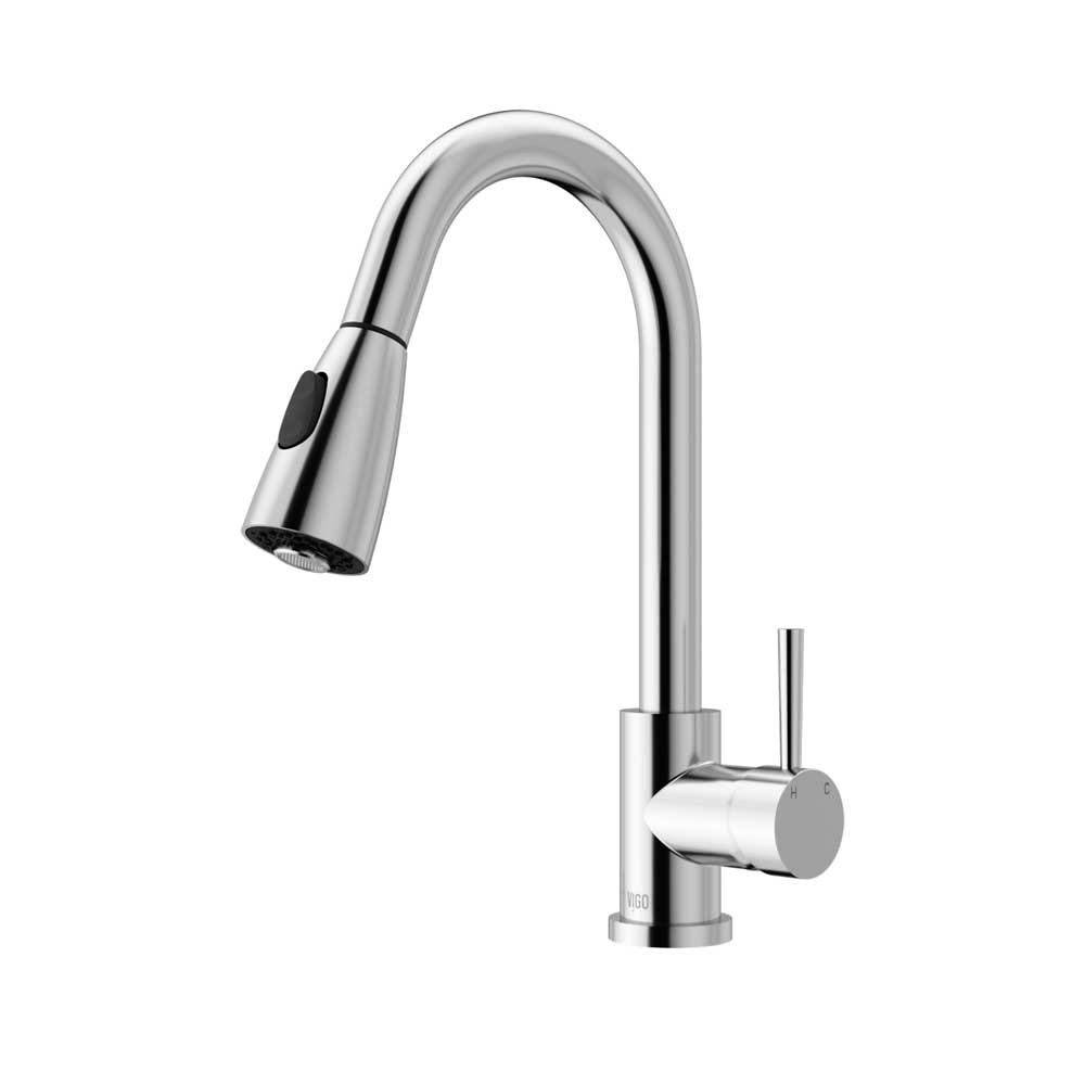 Vigo VG02005CH Pull-Down Spray 360 Degree Swivel Spout Kitchen Chrome