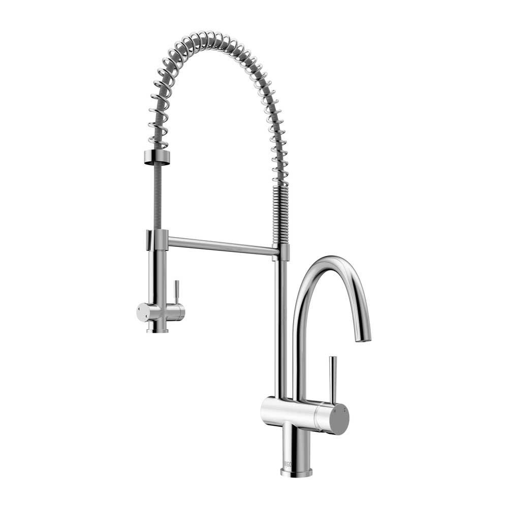 """Vigo VG02006CH 28"""" Pull Down Spray 360 Degree Swivel Spout Kitchen Faucet"""