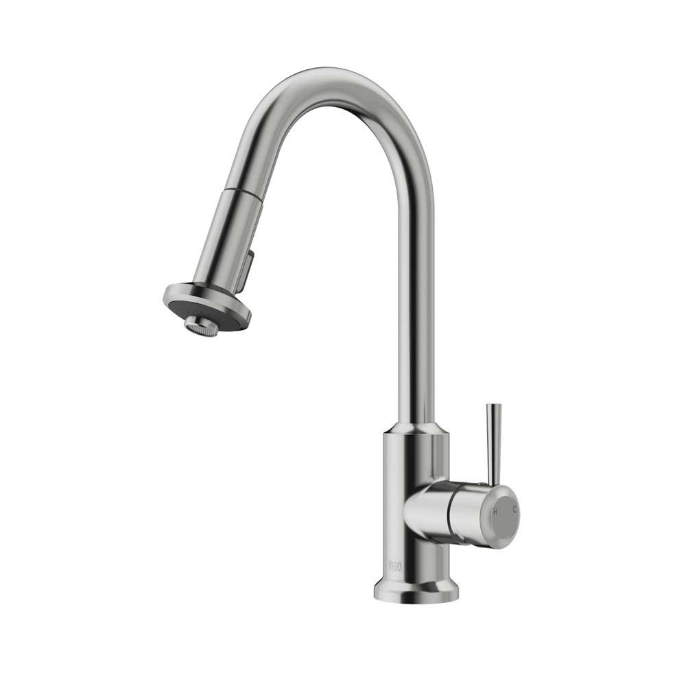 Vigo VG02012ST Dual Control Spray Kitchen Faucet