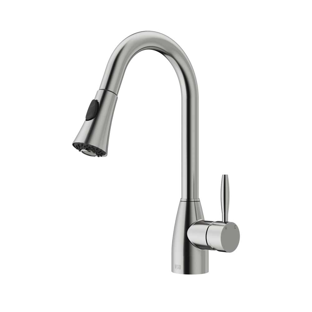 Vigo VG02013ST Kitchen Faucet With Spray Head