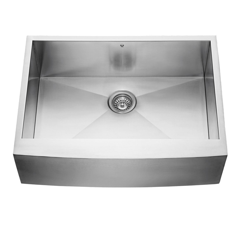 Vigo VG3020C 30''. Stainless Steel Farmhouse Kitchen Sink