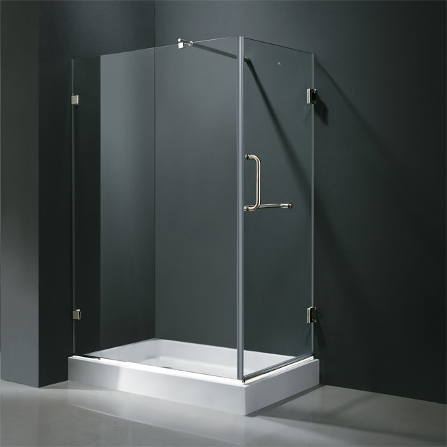 """Vigo VG6012....36 36 x 48"""" Frameless 3/8"""" Glass Bathroom Shower Enclosure"""