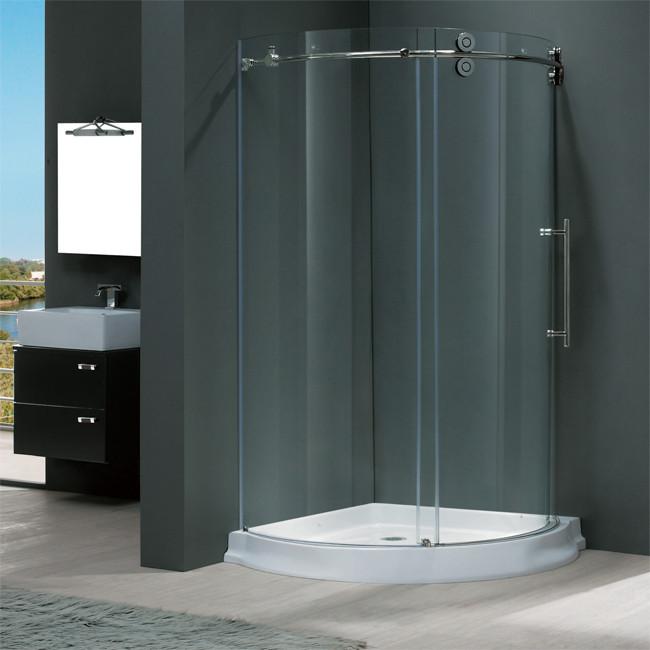 """Vigo VG6031....40 40x40"""" Frameless Round Tempered Glass Shower Enclosure"""