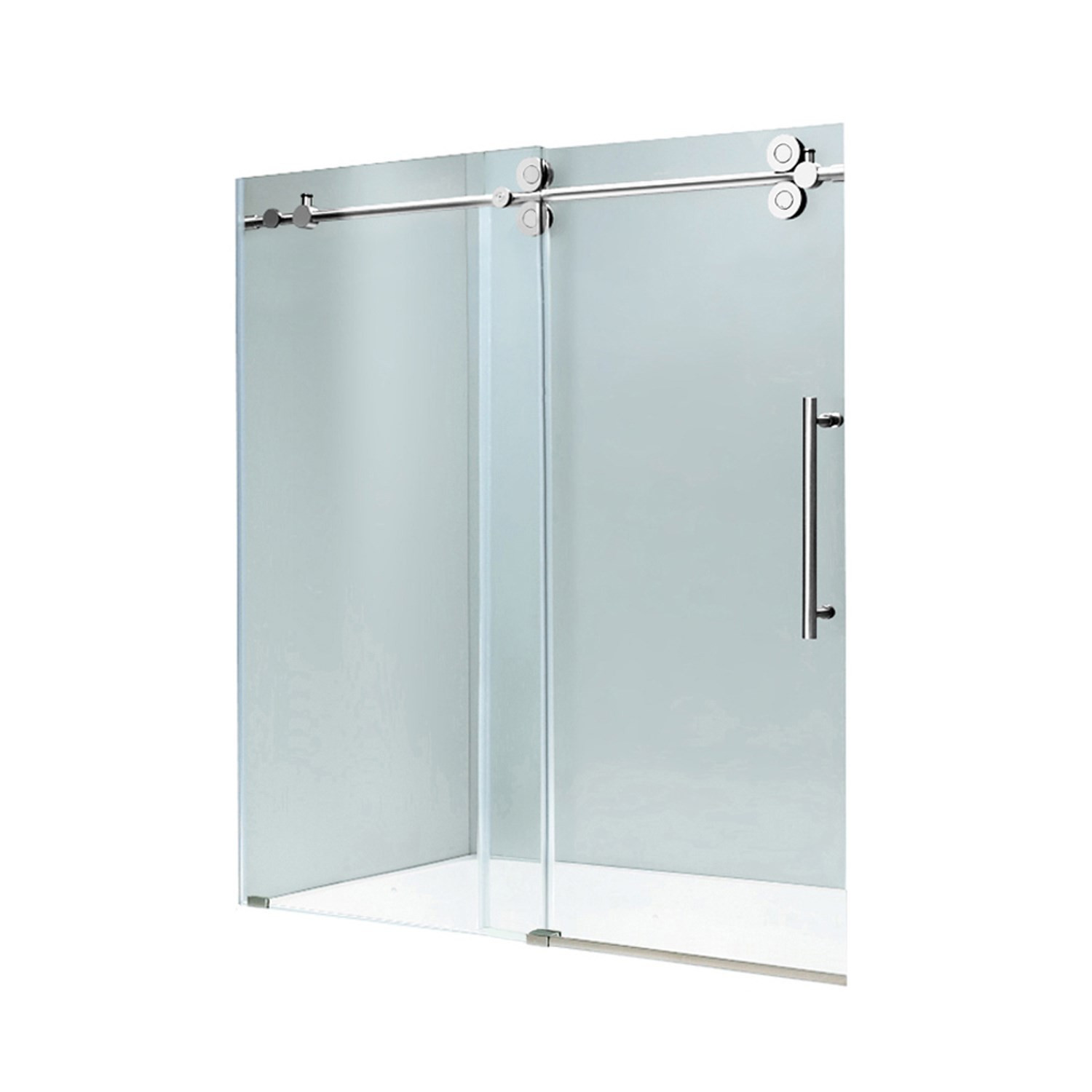 VIGO VG6041CHCL6074 Elan Frameless Shower Door With Chrome Hardware