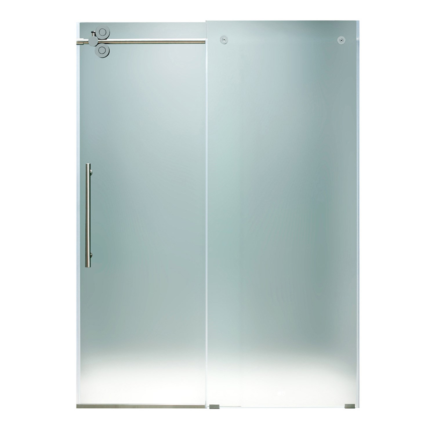 VIGO VG6041CHMT6074L Elan Frameless Shower Door With Chrome Hardware Left-Sided Door