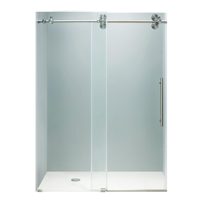 VIGO VG6041STCL7274 Elan Frameless Reversible Shower Door With Stainless Steel Hardware