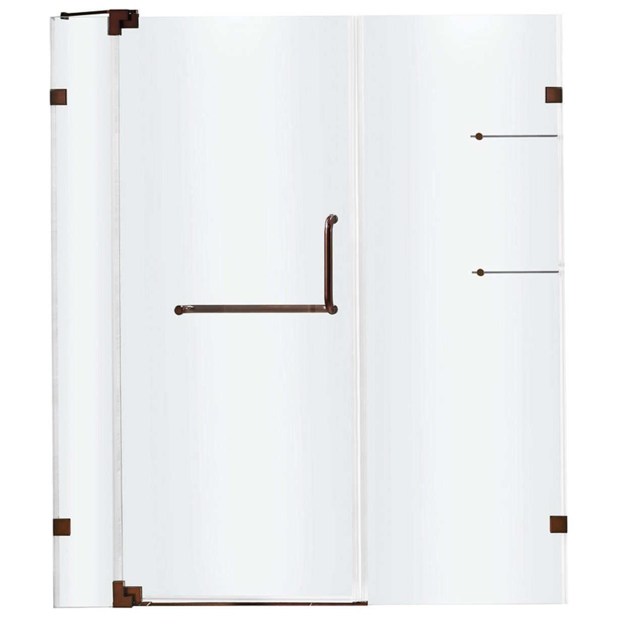 VIGO VG6042RBCL54 Pirouette Frameless Clear Glass Shower Door With Oil Rubbed Bronze Hardware