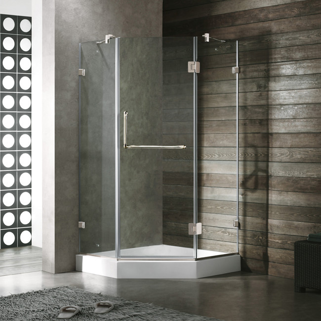 "Vigo VG6062....40 40 x 40"" Frameless Neo-Angle 3/8 Tempered Glass Bathroom"