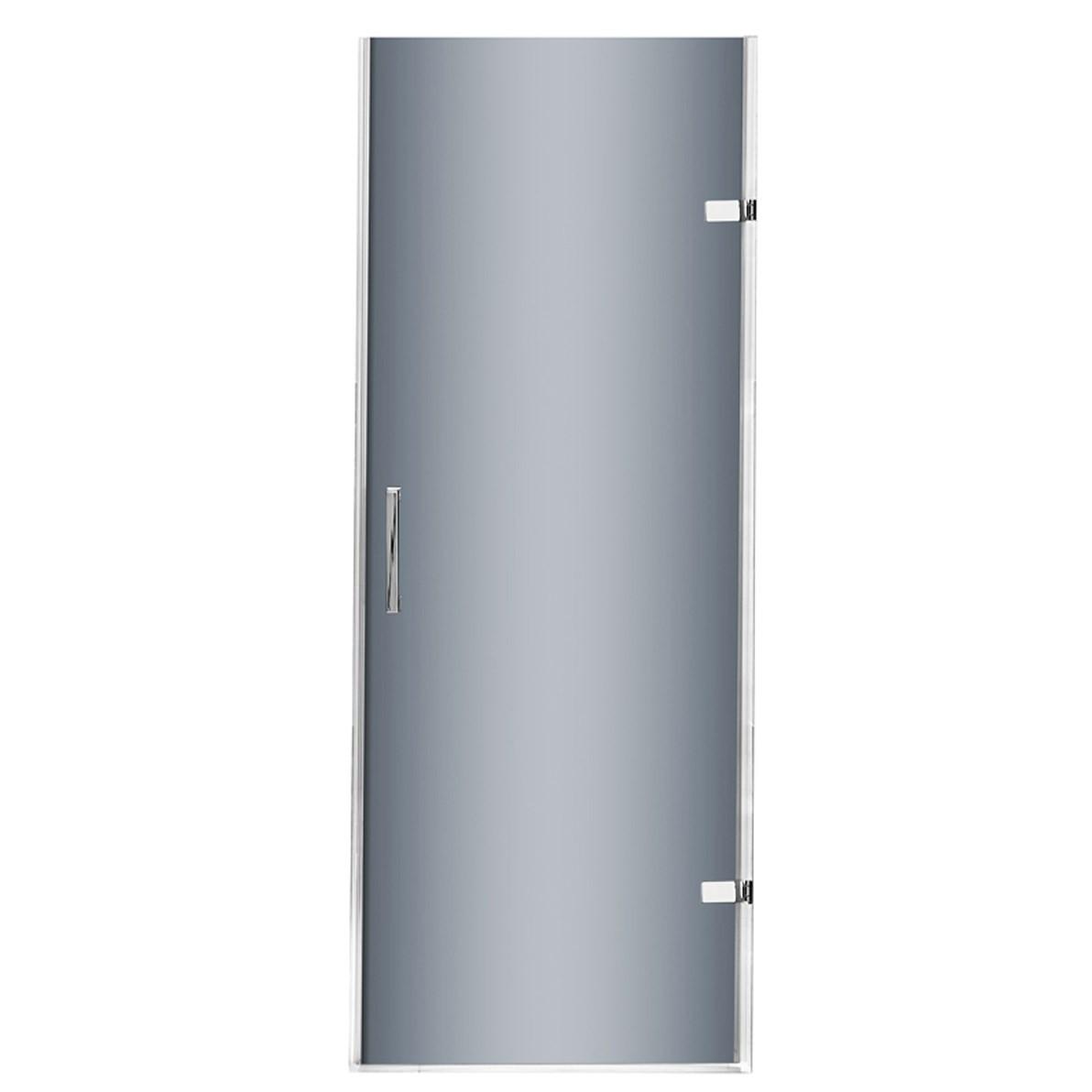 VIGO VG6072CHBLK28 SoHo Adjustable Frameless Shower Door With Sheer Black Glass In Chrome