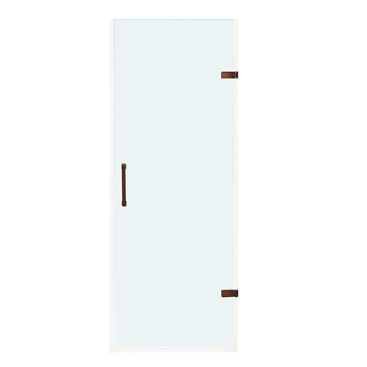 VIGO VG6072RBCL24 SoHo Adjustable Frameless Shower Door With Clear Glass In Oil Rubbed Bronze