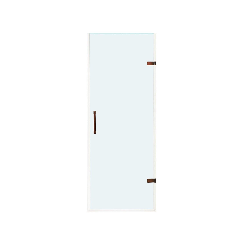 VIGO VG6072RBCL28 SoHo Adjustable Clear Glass Frameless Shower Door In Oil Rubbed Bronze
