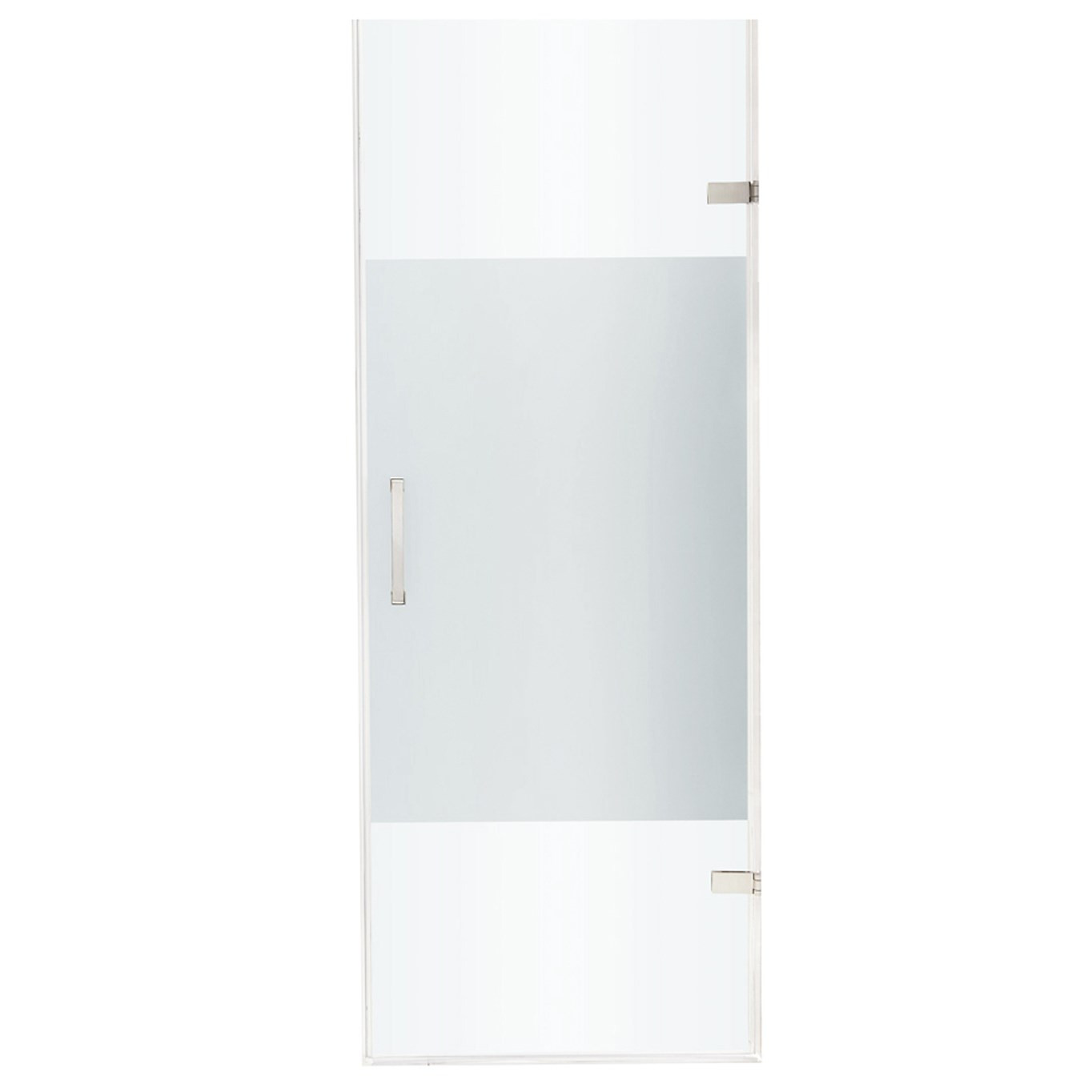 VIGO VG6072STCMC28 SoHo Adjustable Frameless Shower Door In Stainless Steel Hardware