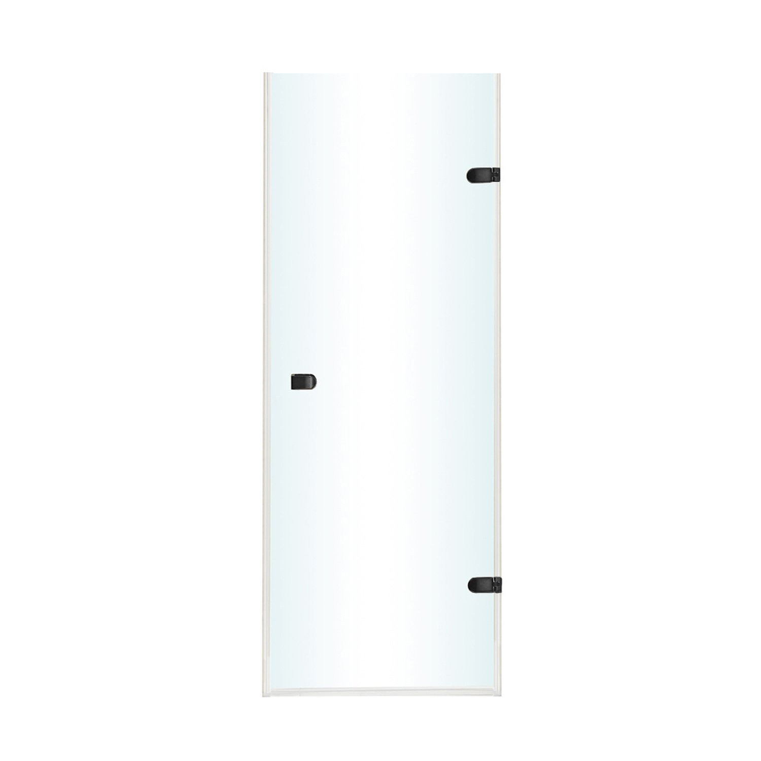 VIGO VG6073MBCL30 Tempo Frameless Shower Door With Clear Glass In Matte Black Hardware