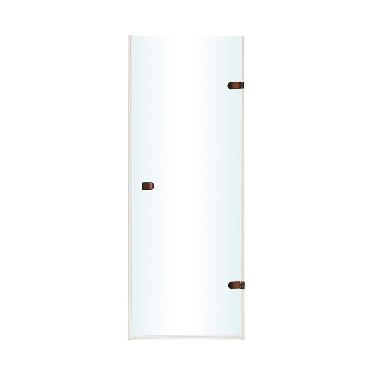 VIGO VG6073RBCL28 Oil Rubbed Bronze Tempo Adjustable Clear Glass Frameless Shower Door