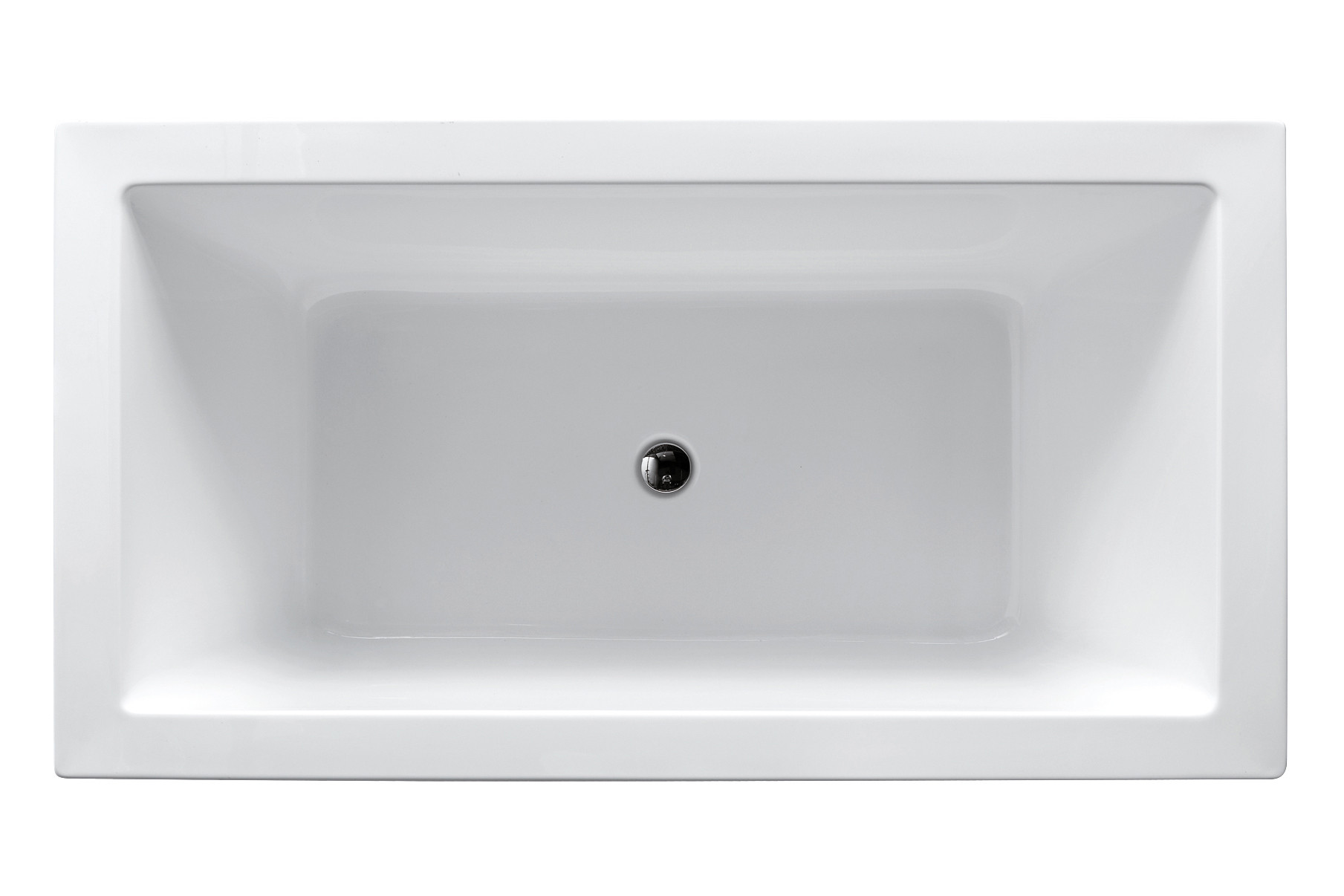 Virtu USA VTU-1367 67-Inch x 27.5-Inch Serenity Freestanding Soaking Tub