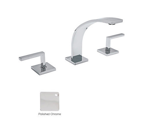 Rohl WA102L-APC-2 Wave 3-Hole Deck Mounted Widespread Lavatory Faucet