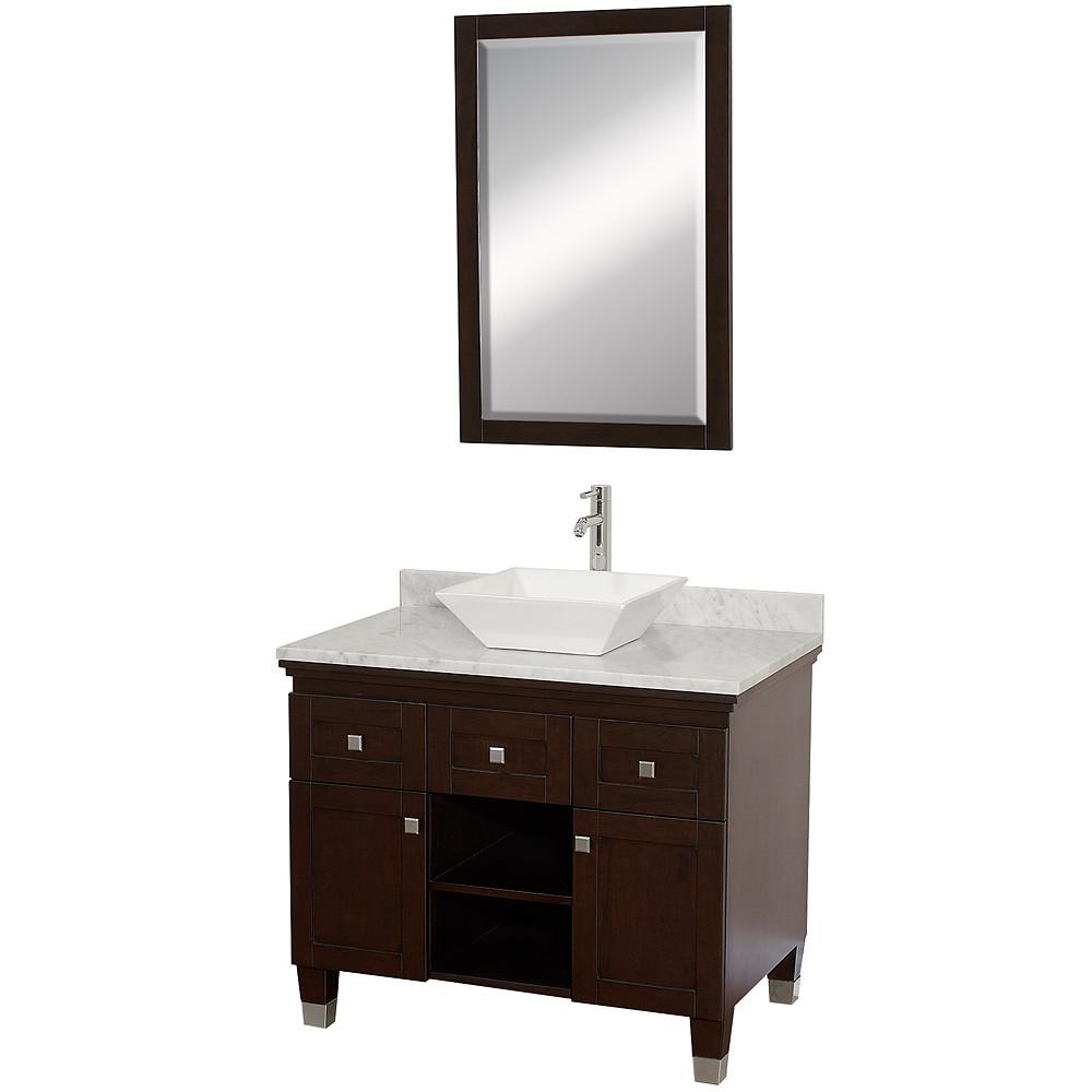 Wyndham WC-CG5000-36 Modern Wood Bathroom Vanity / Mirror Combination