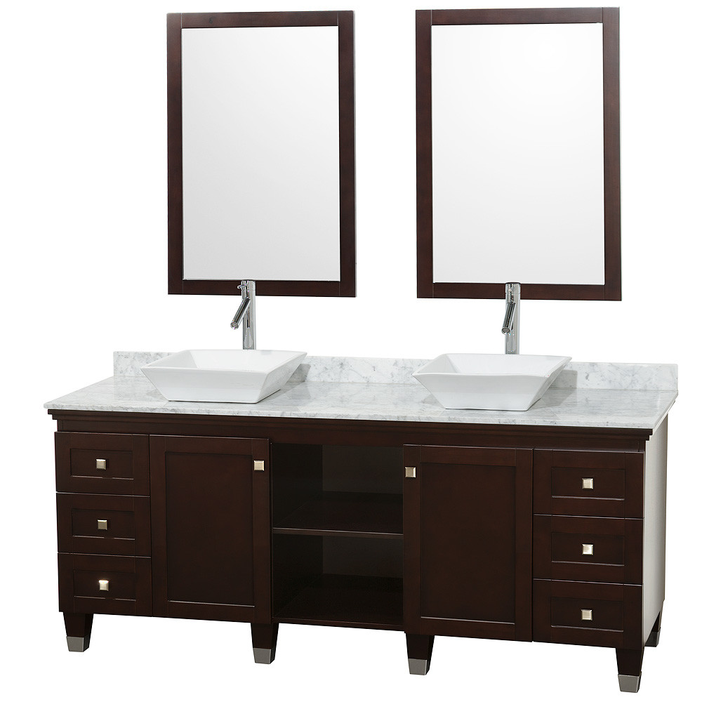 Wyndham WC-CG5000-72 Modern Wood Bathroom Vanity / Mirror Combination