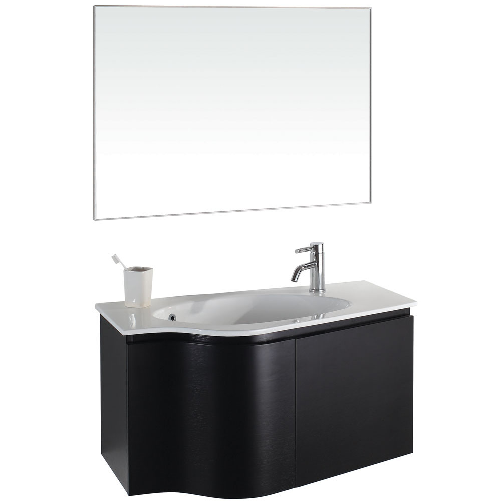 Wyndham WC-V12063 Wood Wall Mounted Bathroom Vanity + Countertop Combo