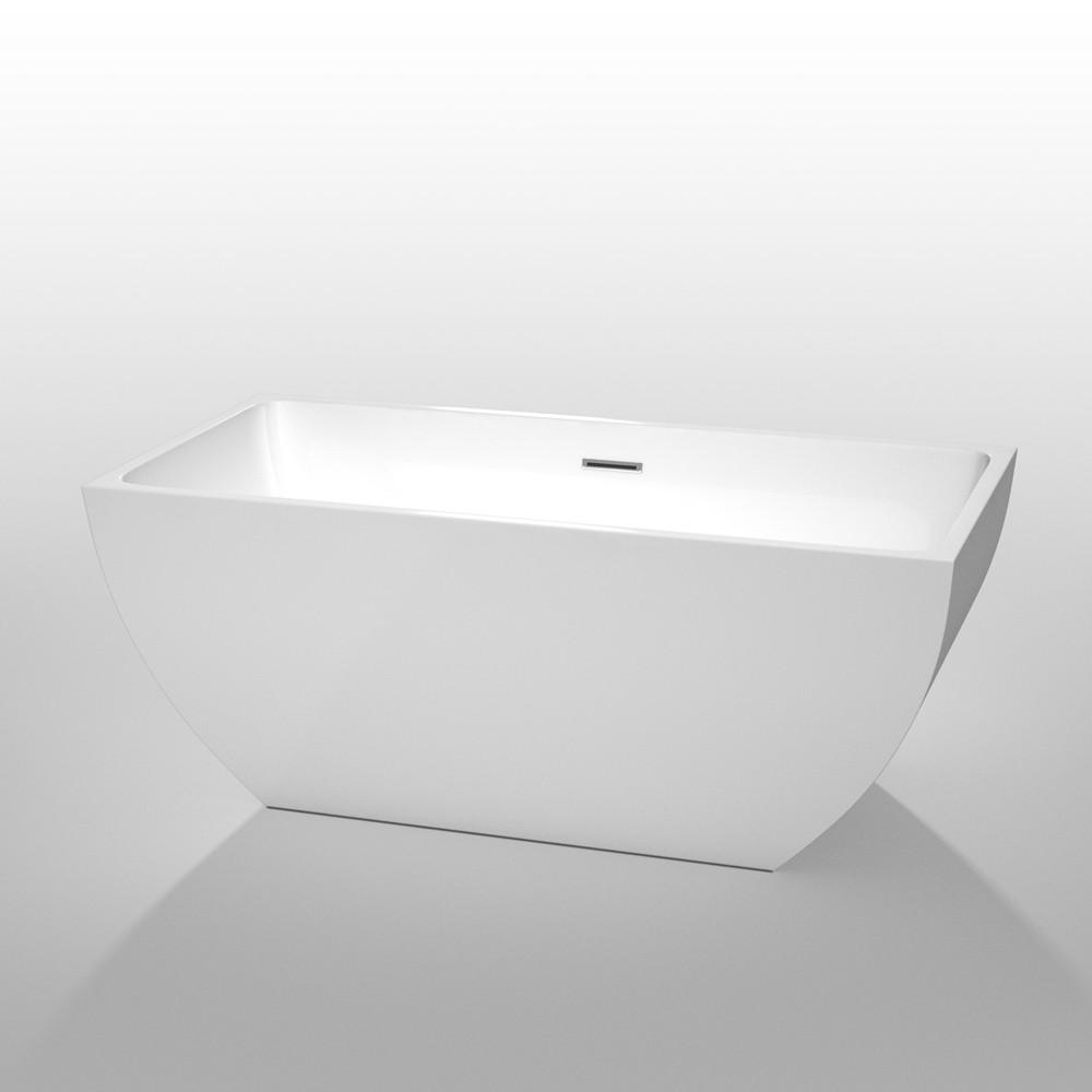 Wyndham WCBTK150559 Rachel White  59 in. Soaking Bathtub with Chrome Drain