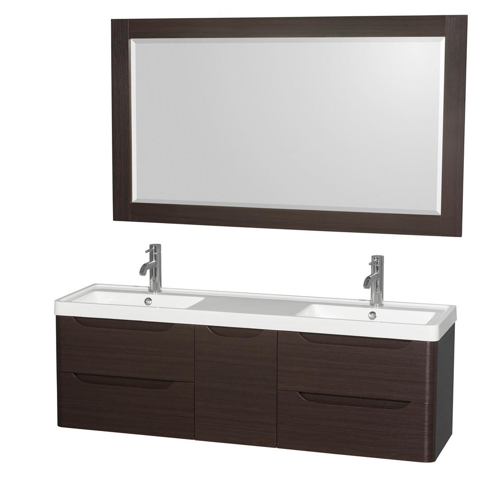 Wyndham WCS777760DESARINTM58 Murano Double Sink Vanity in Espresso with Countertop
