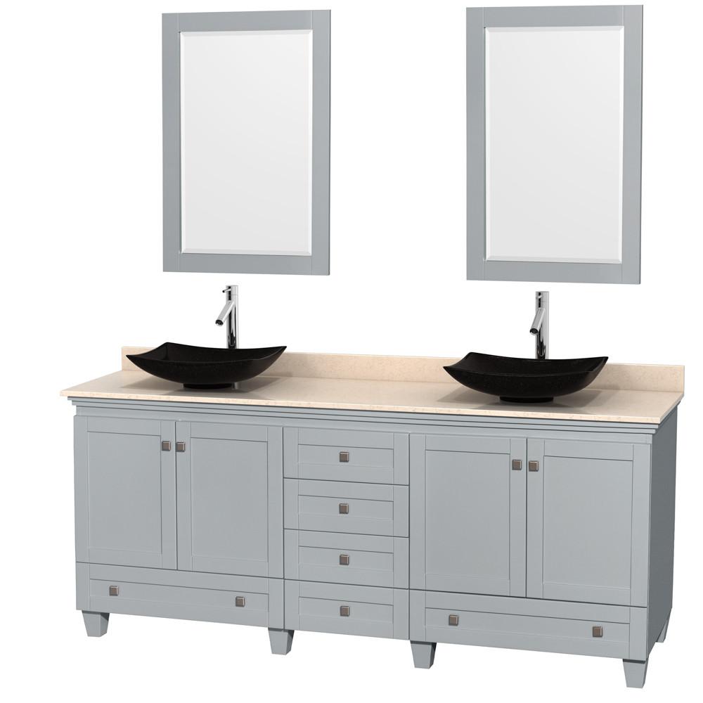 Wyndham WCV800080DOYIVGS4M24 Acclaim Floor Mount Bathroom Vanity in Oyster Gray