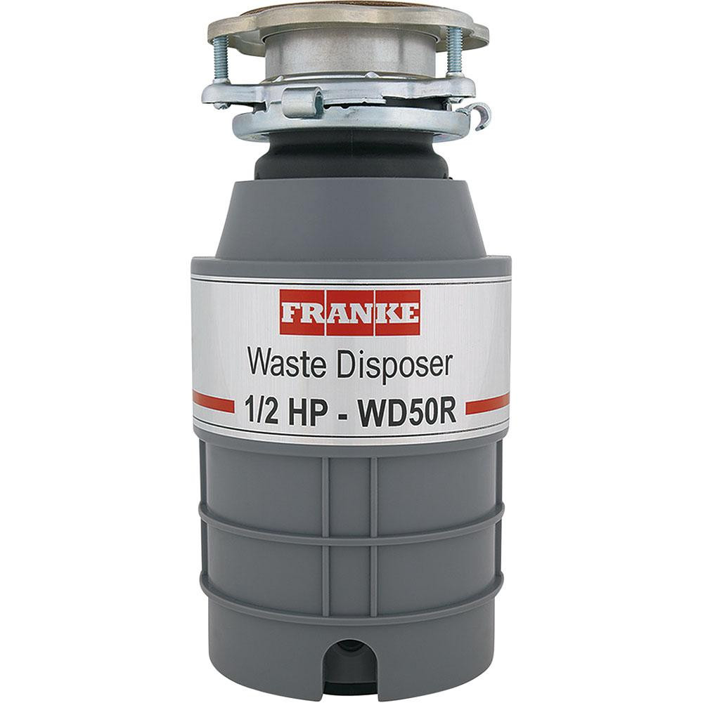 Franke WD50R Gray Finish LB Waste Disposers 1/2 Horse Power Continuous Feed