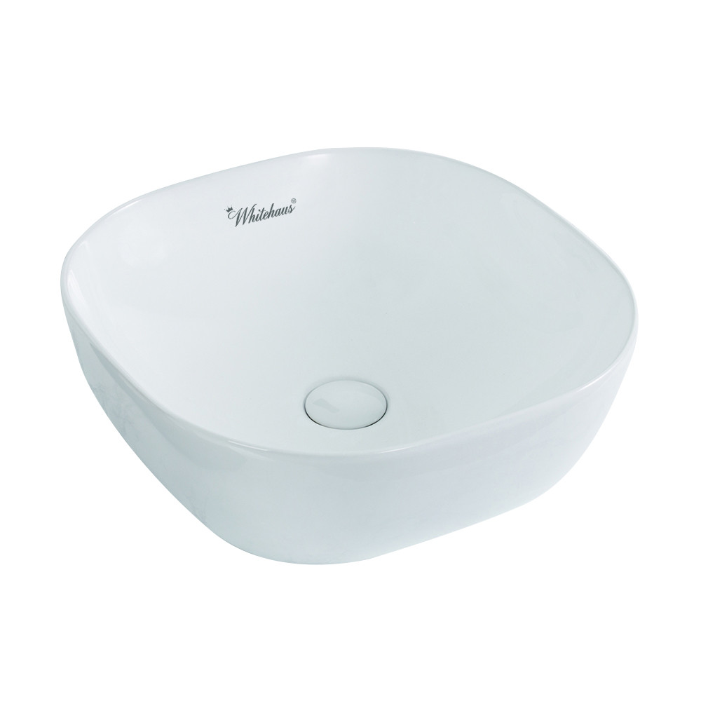 Whitehaus WH71301 Isabella Plus Collection Square Above Mount Basin With Center Drain