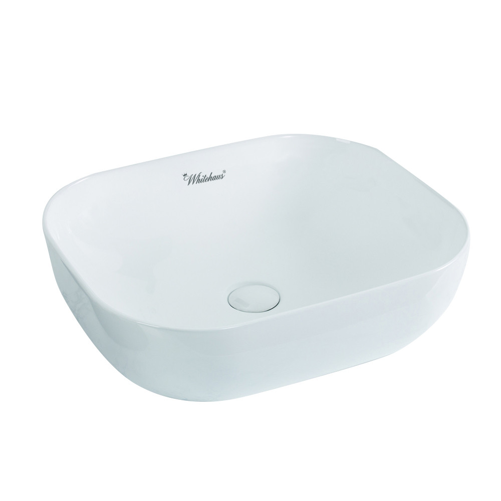 Whitehaus WH71302 Isabella Plus Collection Rectangular Above Mount Basin With Center Drain