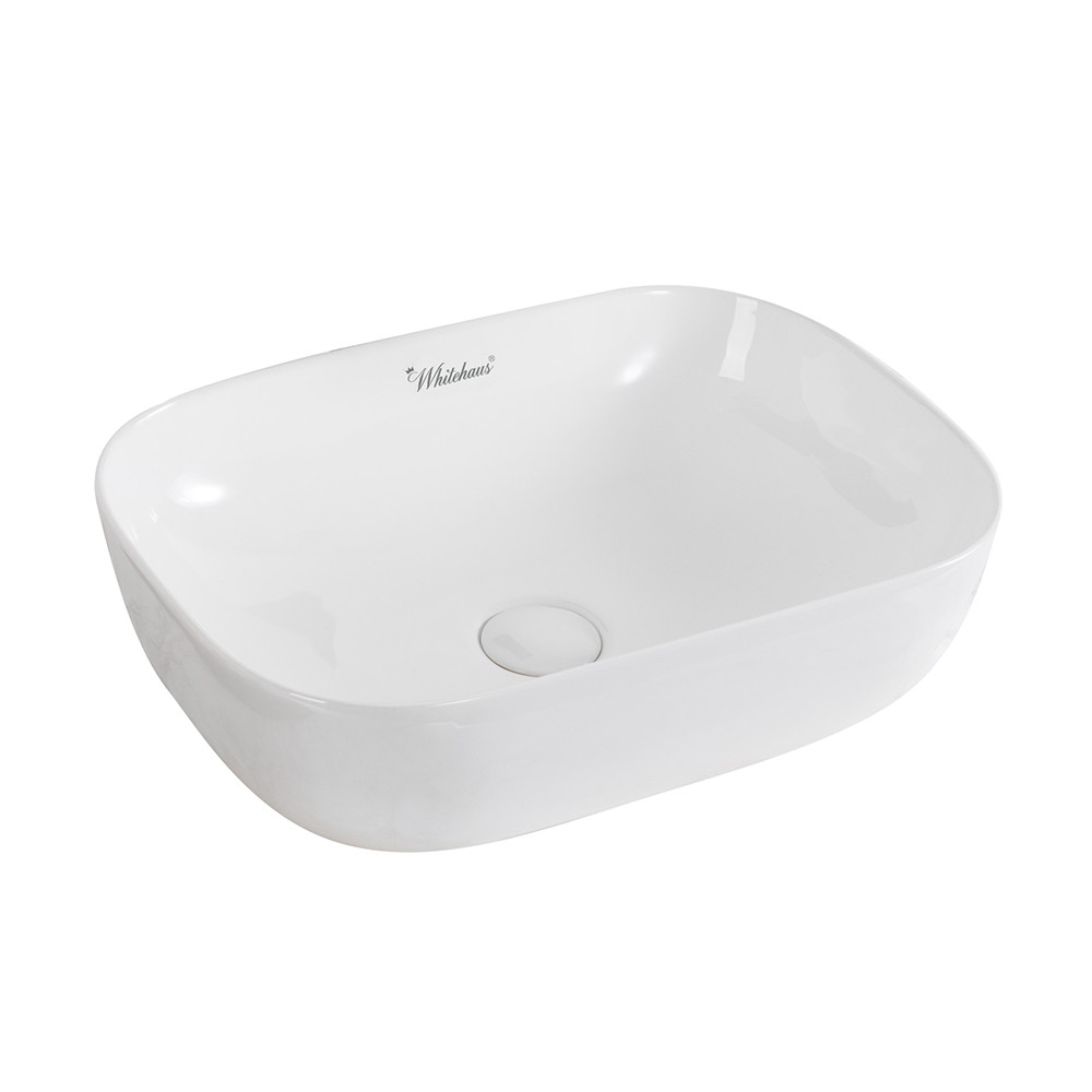 Whitehaus WH71333 Isabella Plus Collection Rectangular Above Mount Basin with Center Drain