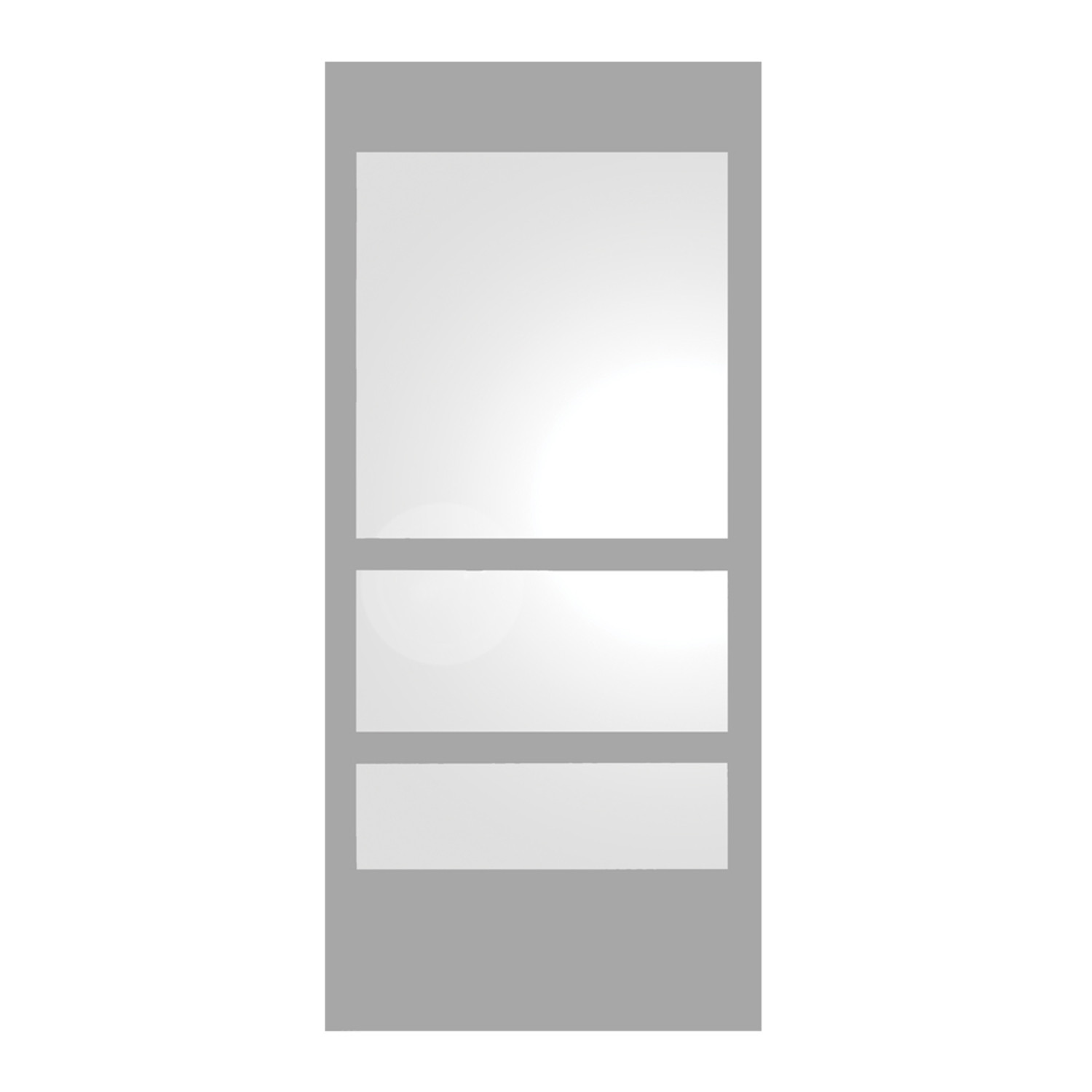 Whitehause WHE11-GREY Rectangular Ecoloom Mirror With Laminated Colored Glass Borderin Grey