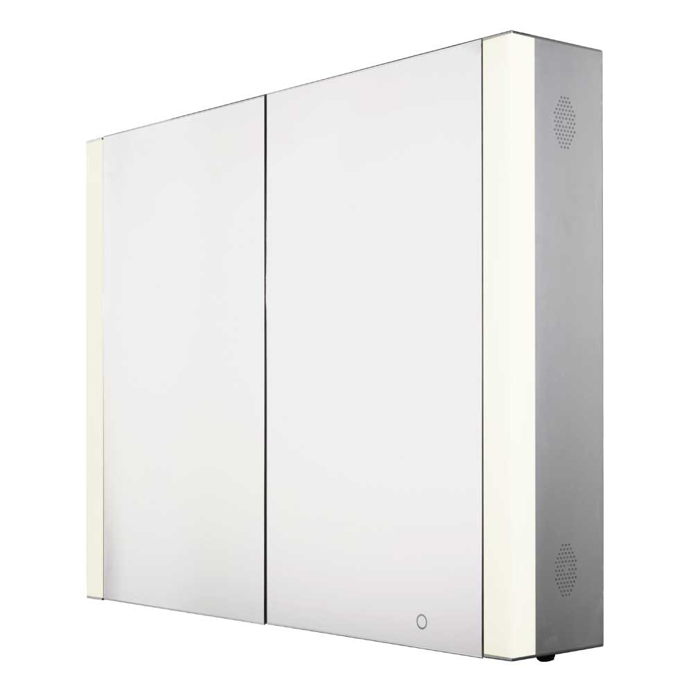 Whitehaus WHFEL7089-S Musichaus Double Door Anodized Aluminum Cabinet
