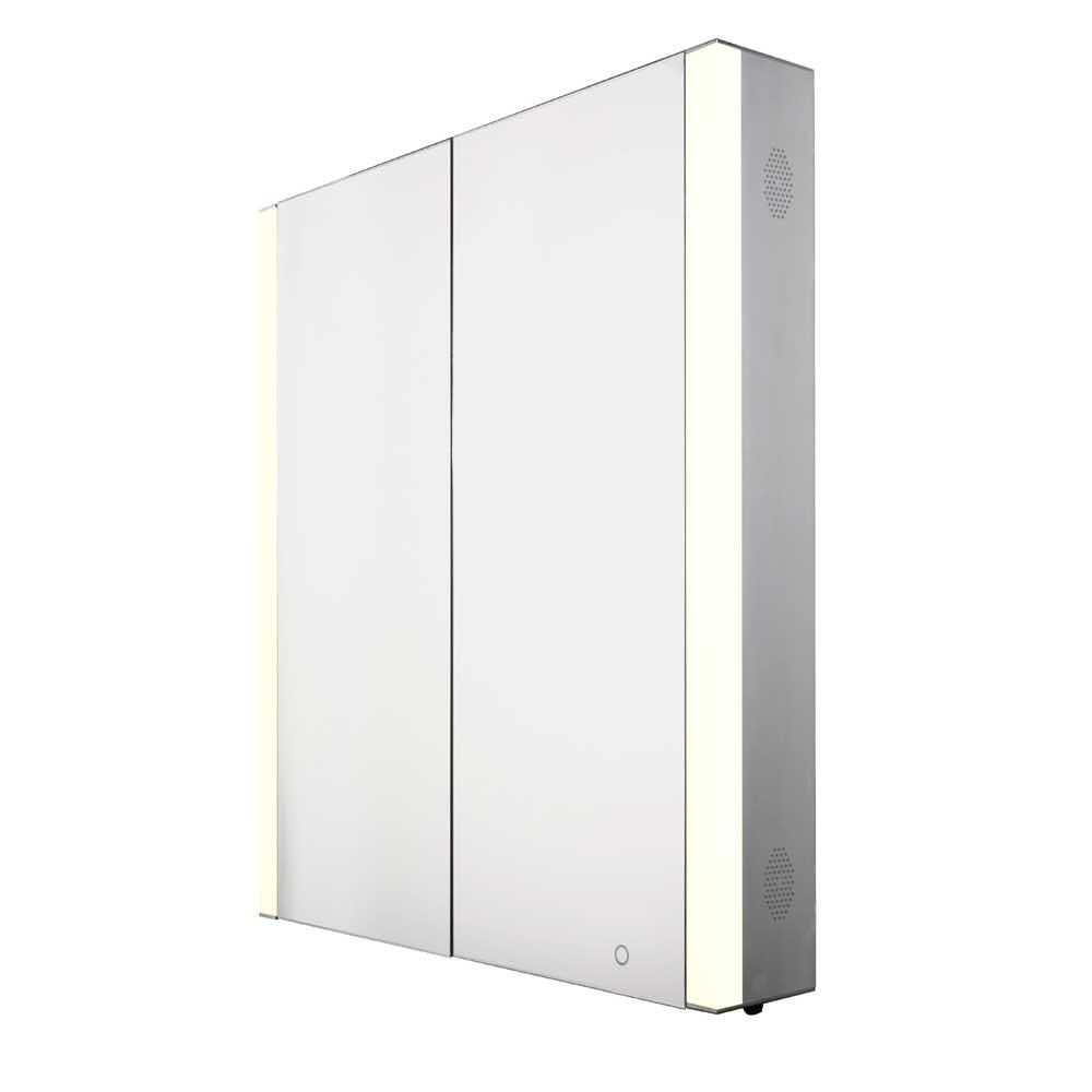 Whitehaus WHFEL8069-S Musichaus Double Door Medicine Cabinet in Aluminum