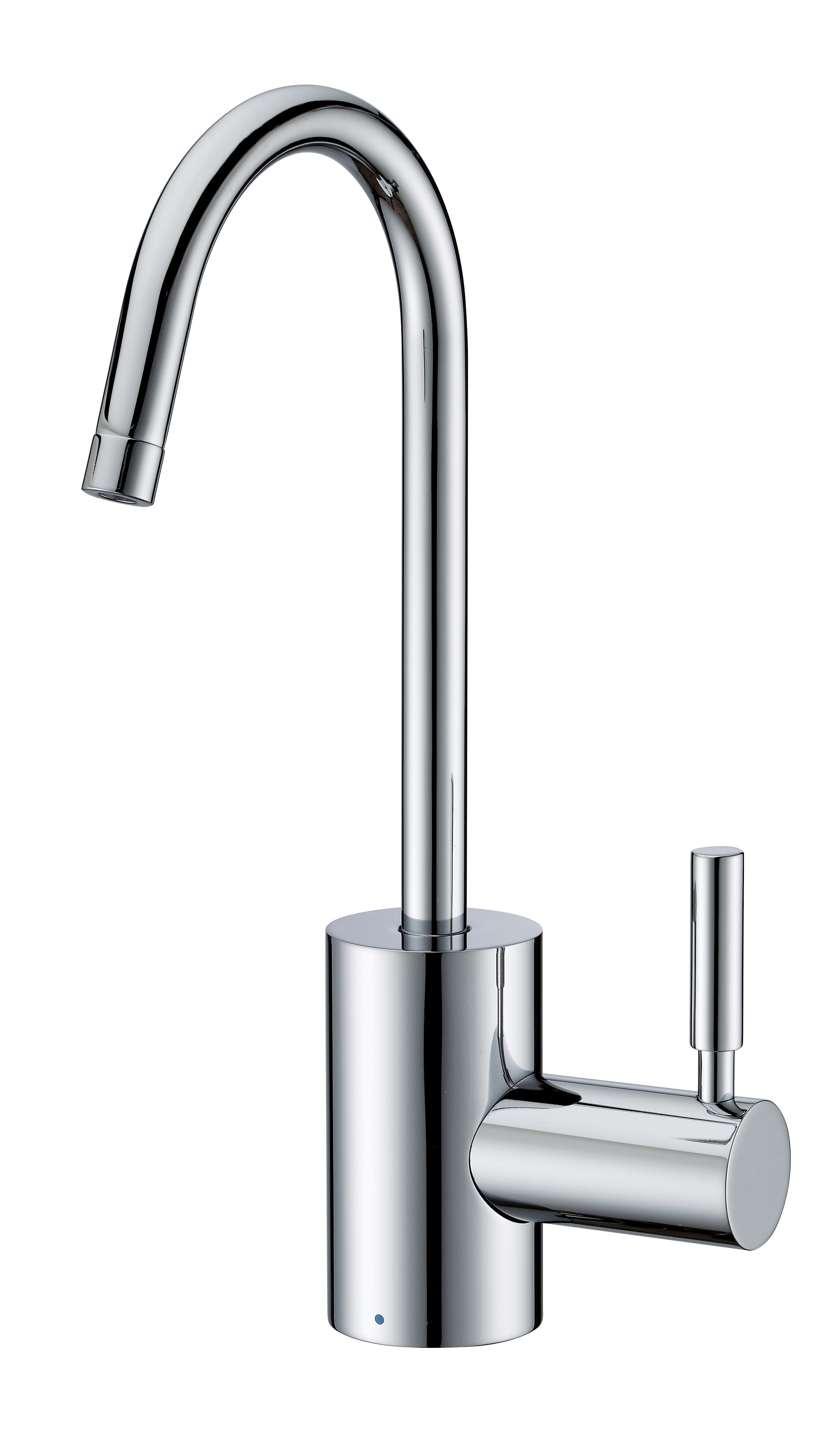 Whitehaus WHFH-C1010-C Polished Chrome Point of Use Cold Water Faucet with Contemporary Spout