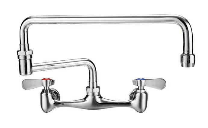 Whitehaus WHFS813-C Polished Chrome Laundry Faucet with Double Jointed Retractable Swing Spout