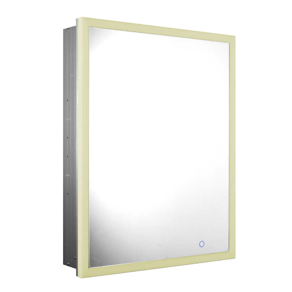 Whitehaus WHLUN7055-IR Recessed Single door cabinet with adjustable shelves