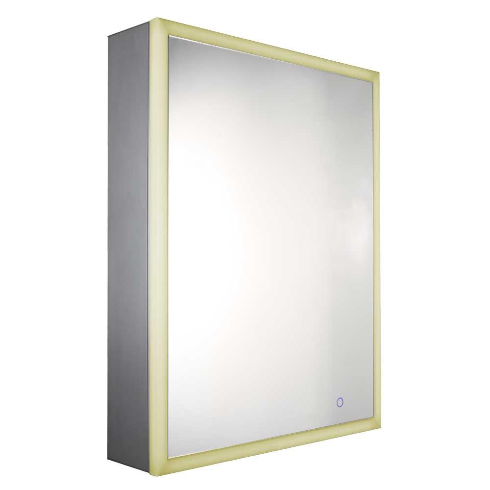 Whitehaus WHLUN7055-OR Aluminum Musichaus Single Door Medicine Cabinet